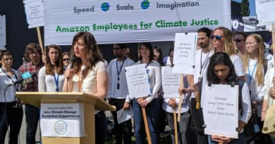 Activists, Amazon employees and climate scientists hold virtual protest over worker firings