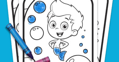 Bubble Guppies Coloring Pack