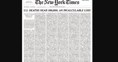The New York Times Fills Entire Cover With Names Of Coronavirus Victims In The U.S.