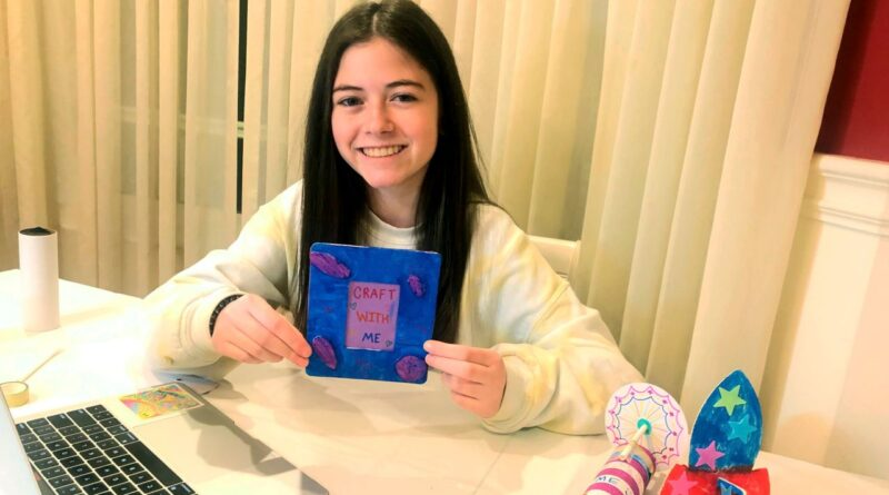 Way to Go! Roslyn student teaches crafts to children in shelters