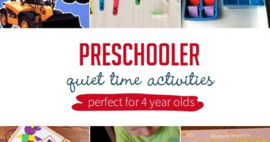 Preschoolers Quiet Time Activities Perfect for 4 Year old's